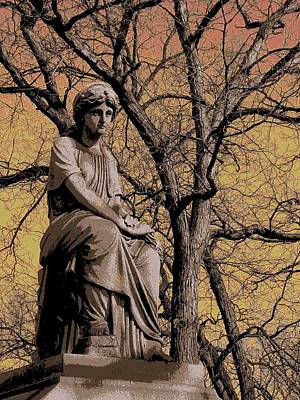 Bare Trees Digital Art - Watching Over by Anita Burgermeister