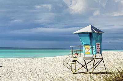 Photograph - Lifeguard Tower Florida Gulf Coast by Randy Bayne
