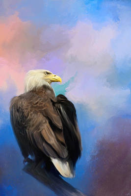 Eagle Painting - Watching Over The Heavens by Jai Johnson