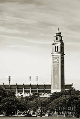 Watching Over The Stadium - Sepia Toned Art Print