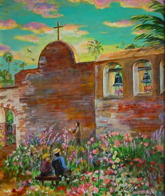 Watching Swallows At Mission San Juan Capistrano Art Print