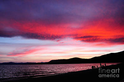 Photograph - Watching Tahoe's Sunset by Haleh Mahbod