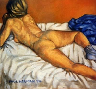 Watching Television Art Print by Paul Herman