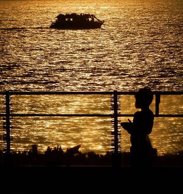 Photograph - Watching The Boats by Pamela Walton