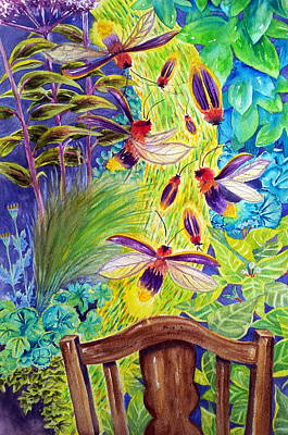 Painting - Watching the Bug Byway by Way of Back Porch by Kathy Sturr