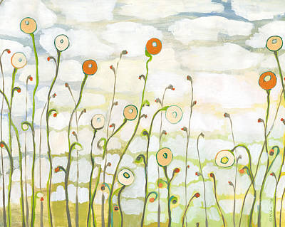 Watching The Clouds Go By No 2 Art Print by Jennifer Lommers
