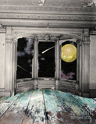 Surrealism Royalty-Free and Rights-Managed Images - Watching the Comet by Mindy Sommers
