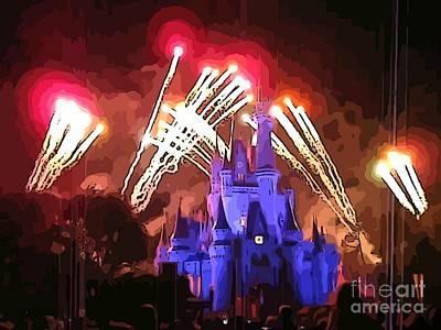 Watching The Fireworks Original by John Malone