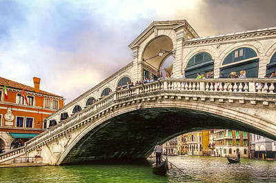 Photograph - Watching The Grand Canal by Maria Coulson