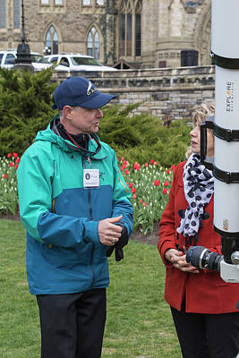 Photograph - Watching The Mercury Transit  by Josef Pittner