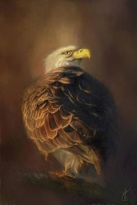 Painting - Watching The Nest Eagle Art by Jai Johnson