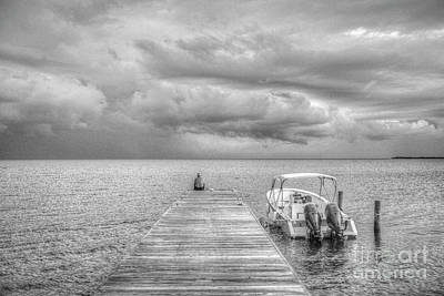 Photograph - Watching The Rain Coming In by David Zanzinger