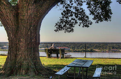 Watching The River Flow Art Print by Larry Braun