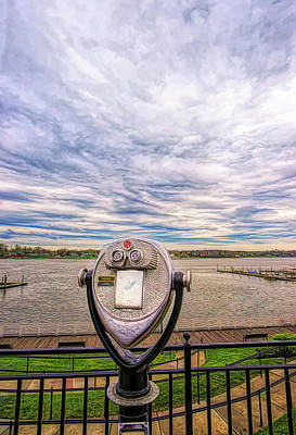 Photograph - Watching The River On A Cloudy Day by Gary Slawsky