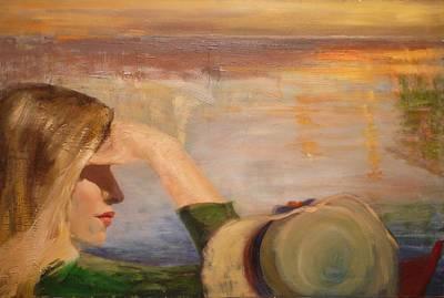 Watching The Sails Art Print by Irena  Jablonski