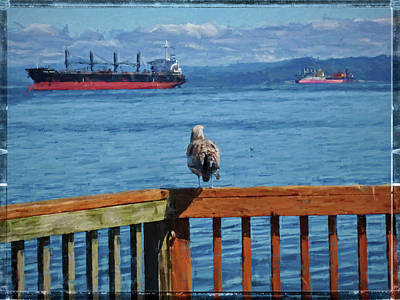 Photograph - Watching The Ships Go By by Thom Zehrfeld