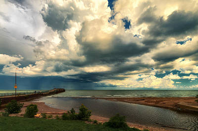 Photograph - Watching The Storm On Lake Erie by Richard Kopchock