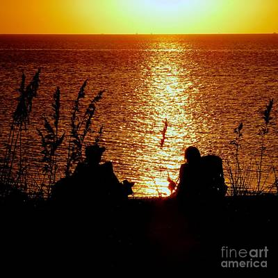 Photograph - Watching The Sunset by Jean Wright