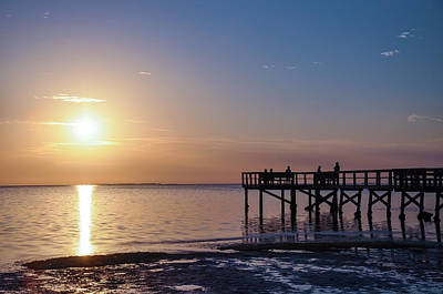 Dunedin Photograph - Watching The Sunset - Palm Harbor Florida by Bill Cannon