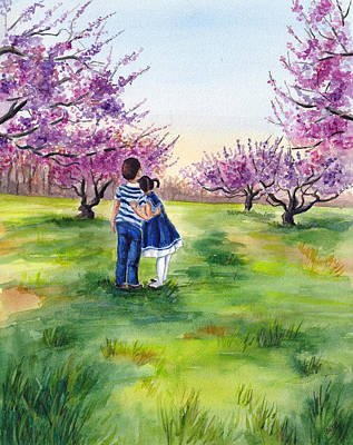 Painting - Watching The Trees Bloom by Clara Sue Beym