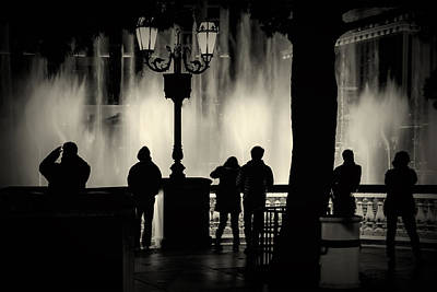 Photograph - Watching The Water Show At Bellagio by Jim Moss