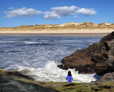 Digital Art - Watching The Waves At Fairy Bridges, Bundoran, Donegal - Ireland by John Carver
