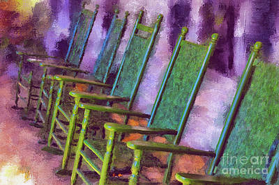 Rocking Chairs Photograph - Watching The World Go By by Lois Bryan