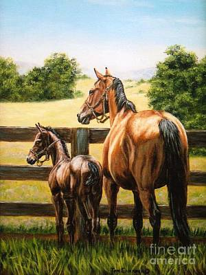 Kentucky Painting - Watching The World Go By by Tom Chapman