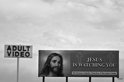 Photograph - Watching You  Bw by David Gordon