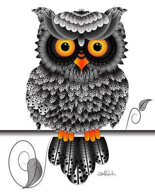 Digital Artwork Drawing - Watching You by Isabel Salvador