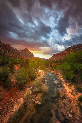 Zion National Park Photograph - Watchman Lights by Darren White