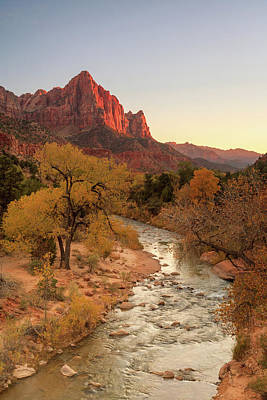 Photograph - Watchman Sunset by Johnny Adolphson