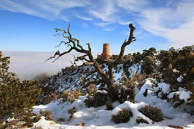 Watchtower Photograph - Watchtower In Winter by Mike Buchheit