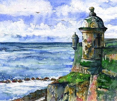 Painting - Watchtowers San Juan by John D Benson
