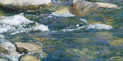 Three Rivers Painting - Water 2 by Nadi Spencer