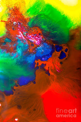 Mixed Media - Water Abstract by Dt