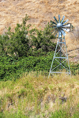 Farmland Photograph - Water Aerating Windmill For Ponds And Lakes by David Gn