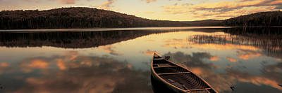 Contemplative Photograph - Water And Boat, Maine, New Hampshire by Panoramic Images