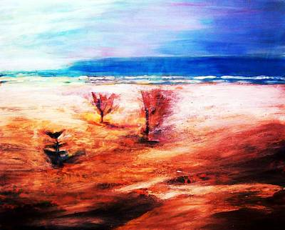 Print featuring the painting Water And Earth by Winsome Gunning