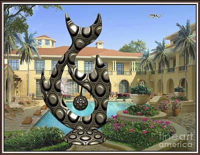 Water And Modern Statue Of Fish 2 Original