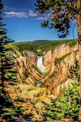 Yellowstone Digital Art - Water And Rainbows by Lisa Lemmons-Powers