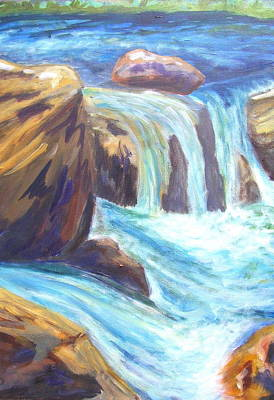Painting - Water And Rock by Caroline Owen-Doar