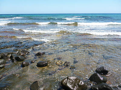 Photograph - Water And Rocks by Laura Greco