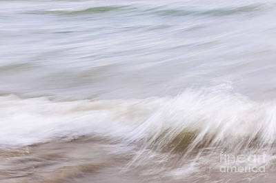Photograph - Water And Sand Abstract 1 by Elena Elisseeva
