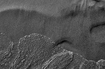 Photograph - Water And Sand Bw by Lyle Crump