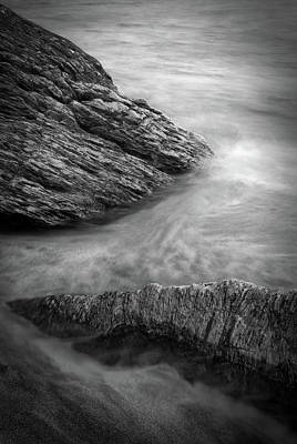 Black And White Photograph - Water And Stone by Joshua Hakin
