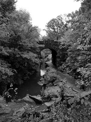 Photograph - Water Arch Of Central Park B W by Rob Hans