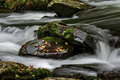 Yellow Photograph - Water Around Rocks by Greg Mimbs