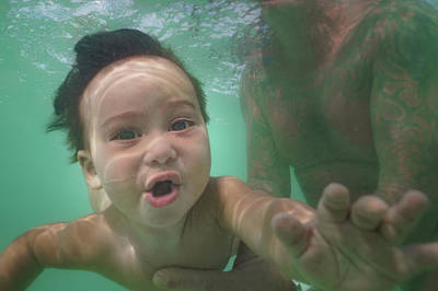 Photograph - Water Baby #2 by Mark Robert Rogers