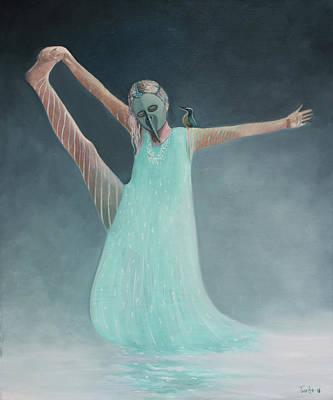 Painting - Water Ballerina by Tone Aanderaa